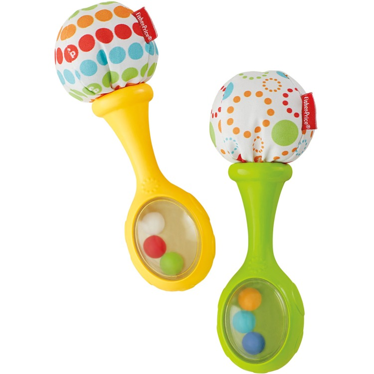 Fisher Price rammelaar maracas - set van 2