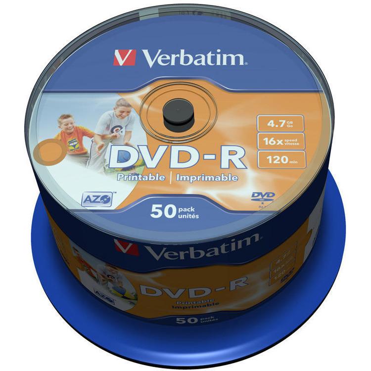 Verbatim DVD-R 43533 4.7 GB 120 min. 50 Stuks