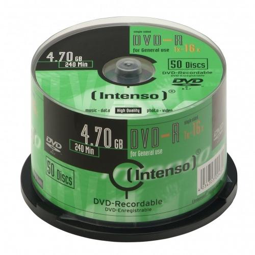 Intenso (her)schrijfbare DVD's DVD-R 4.7GB, 16x