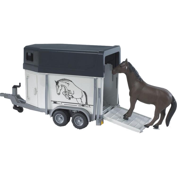 Bruder paardentrailer met paard