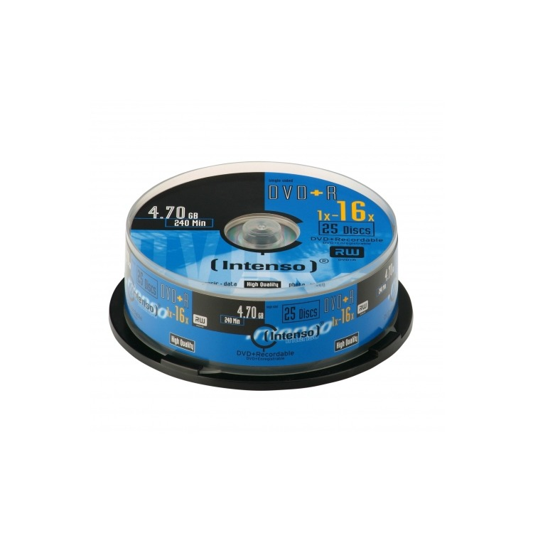 DVD+R Intenso 4,7GB  25pcs Cakebox 16x