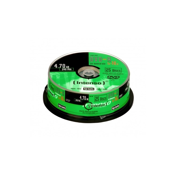 DVD-R Intenso 4,7GB  25pcs CakeBox 16x