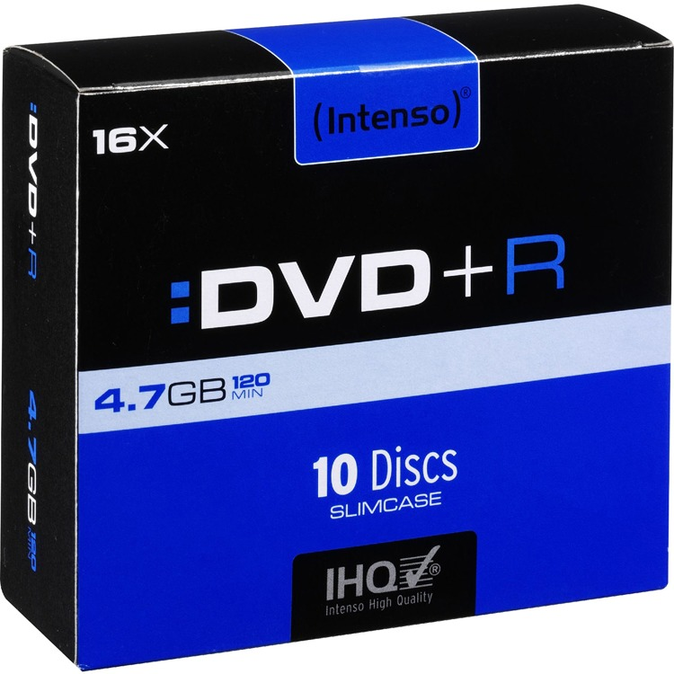 DVD+R Intenso 4,7GB  10pcs Slimcase                    16