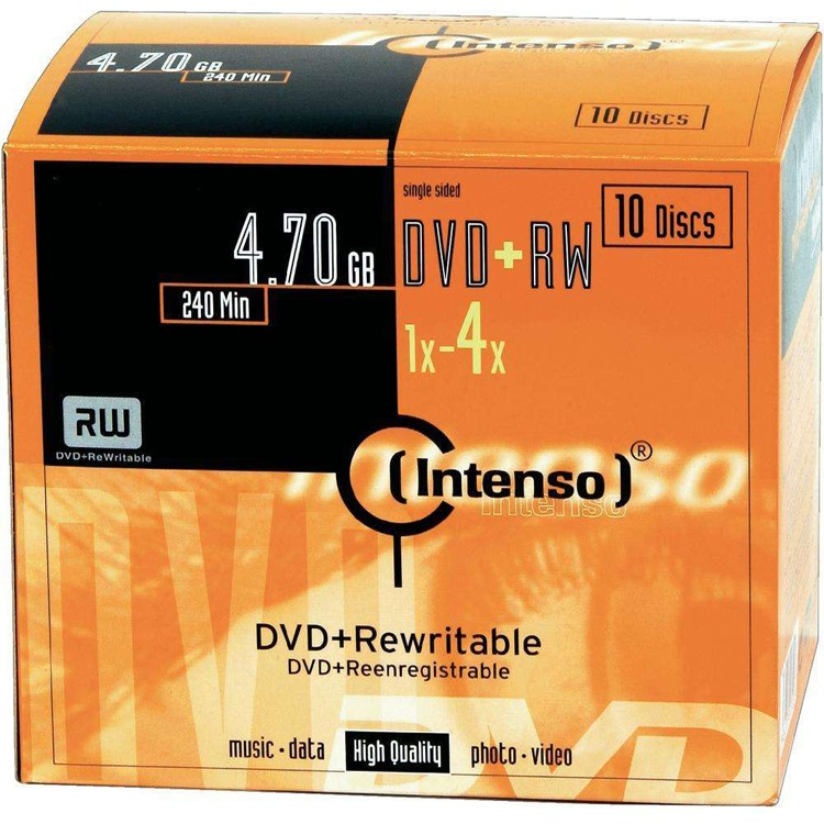 Intenso DVD+RW 4,7GB Slim Case [10 Disc]