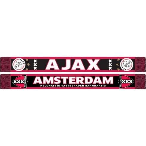 Image of Ajax Sjaal Rood/zwart Kruizen