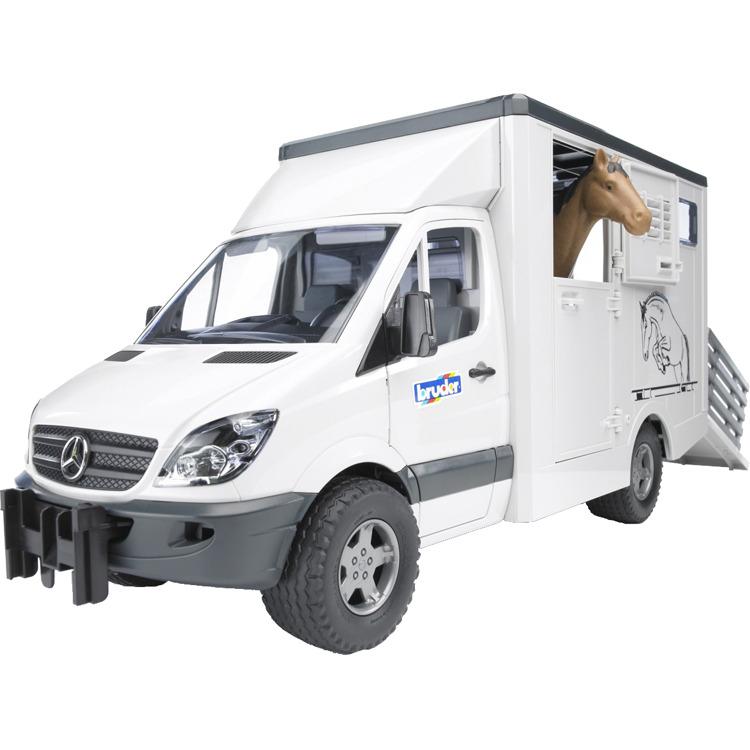 Diertransporter Bruder Mercedes Benz Met 1 Paard