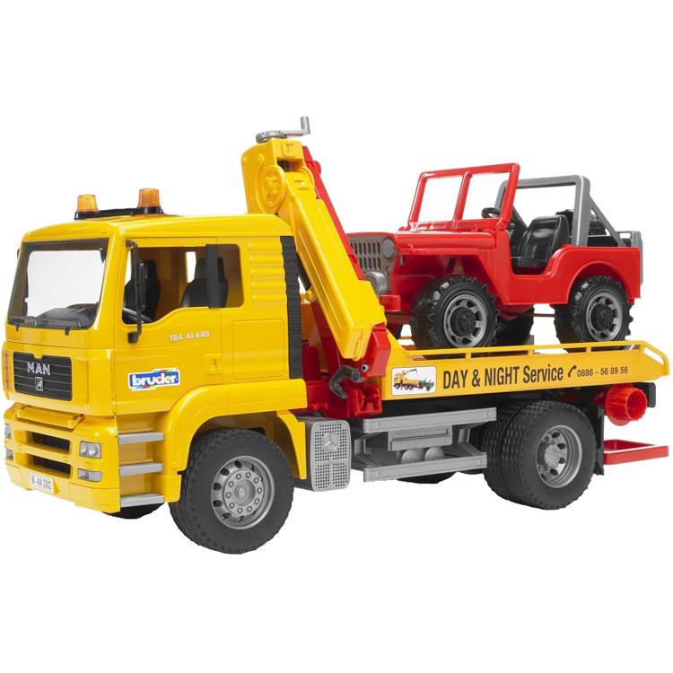 02750 Bruder Man Takelwagen met Jeep