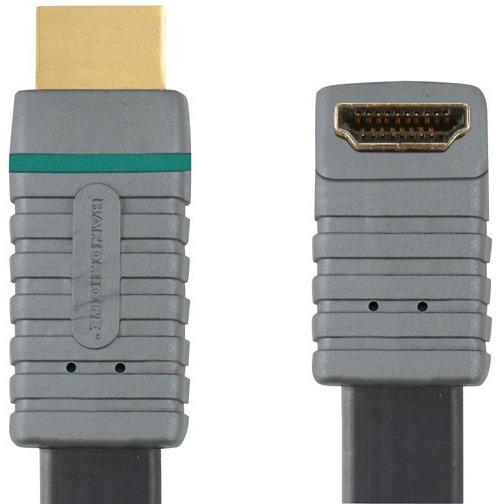 Platte 90° Gehaakte Hoge Snelheids Hdmi Kabel Met Ethernet 2.0 M