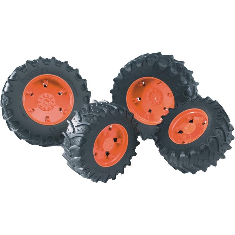 Bruder Dubbele Luchtbanden Voor 3000 Serie Oranje 03302 -