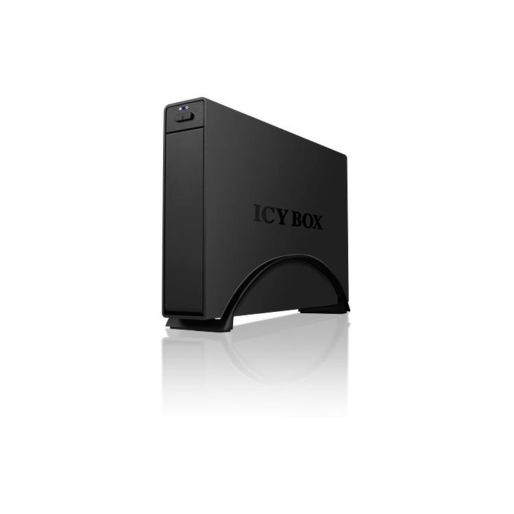 RaidSonic ICY BOX IB-366StU3+B 3,5  USB 3.0 aluminium zwart