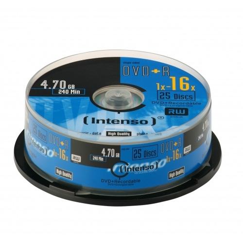 DVD+R Intenso 4,7GB  25pcs Cakebox 16x