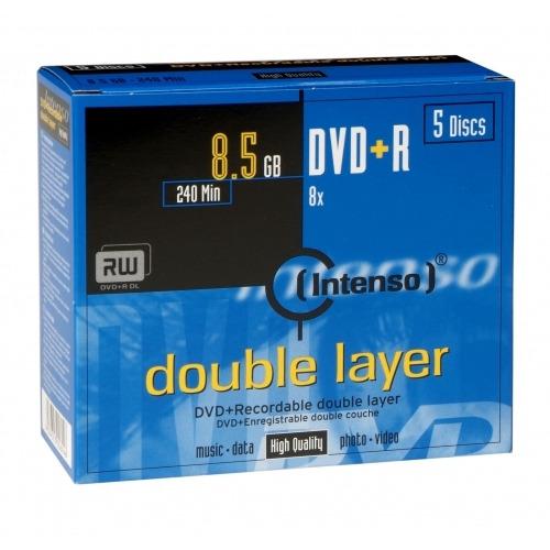 DVD+DL 8x JC 8,5GB Intenso           5St