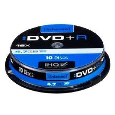 DVD+R Intenso 4,7GB  10pcs Slimcase                    16