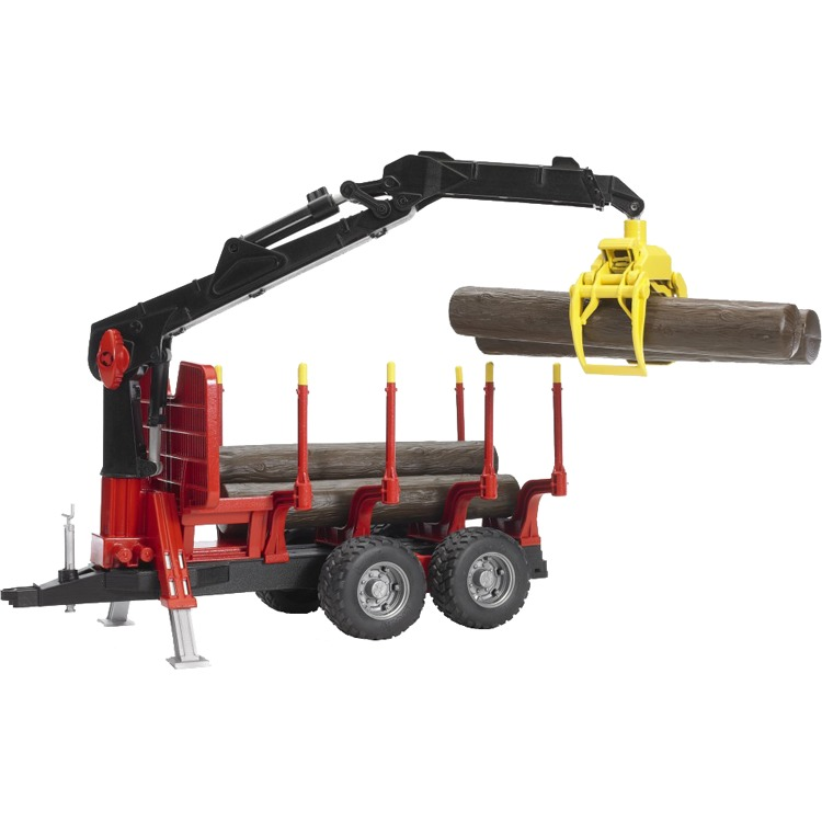 Bruder bosbouw aanhangwagen met kraan