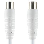 Image of 100 DB Coaxkabel Coax Male (IEC) - Coax Female (IEC) 1.00 M Wit
