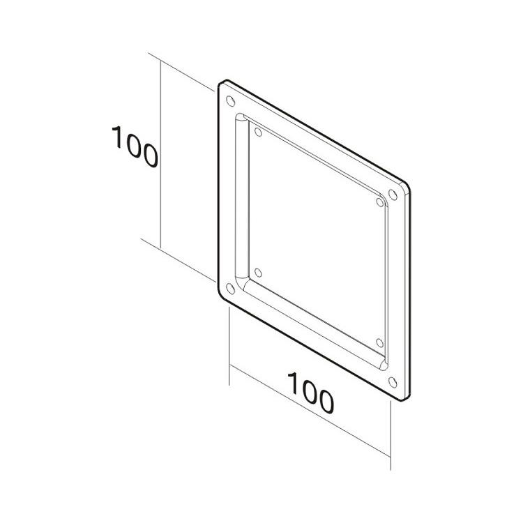 LCD-ARM NEW10-36i verloopplaat75 - 100mm zwart