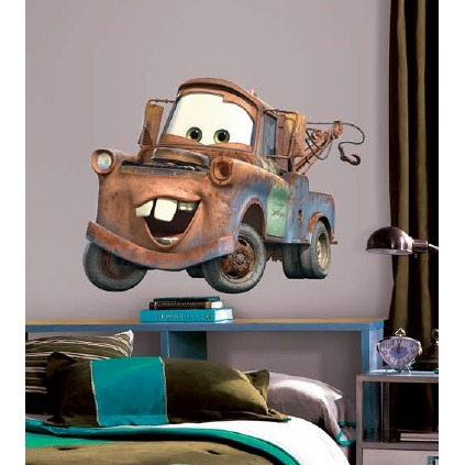 Disney RoomMates Muursticker Cars - Rood