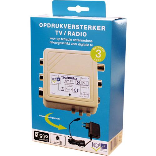 Technetix BDA-02TKK - Signaalversterker met zes coax uitgangen