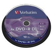 Verbatim DVD+R Double Layer 10 stuks