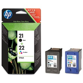 Hp 21+22 Zw+kl Orig. 2-pack