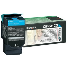 Lexmark E12 C540 C543 C544 X543 X544 toner cartridge cyan 1K return program