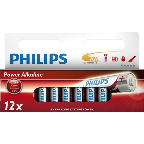Philips Powerlife AA-batterijen - set 12 stuks
