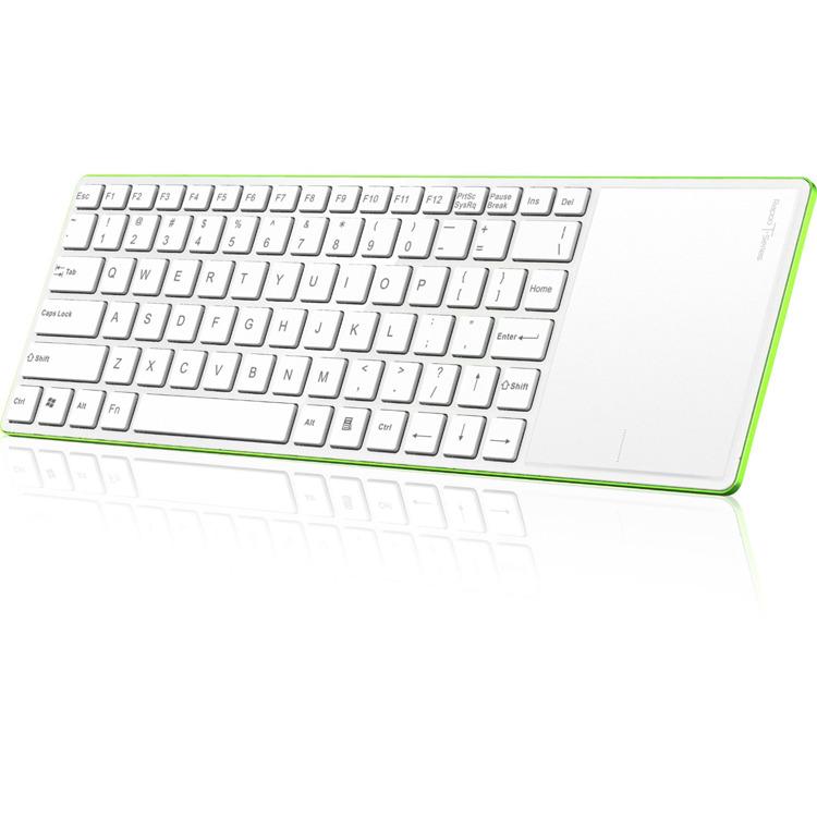 Rapoo E2800P - Draadloos Touch Toetsenbord / Qwerty / Groen