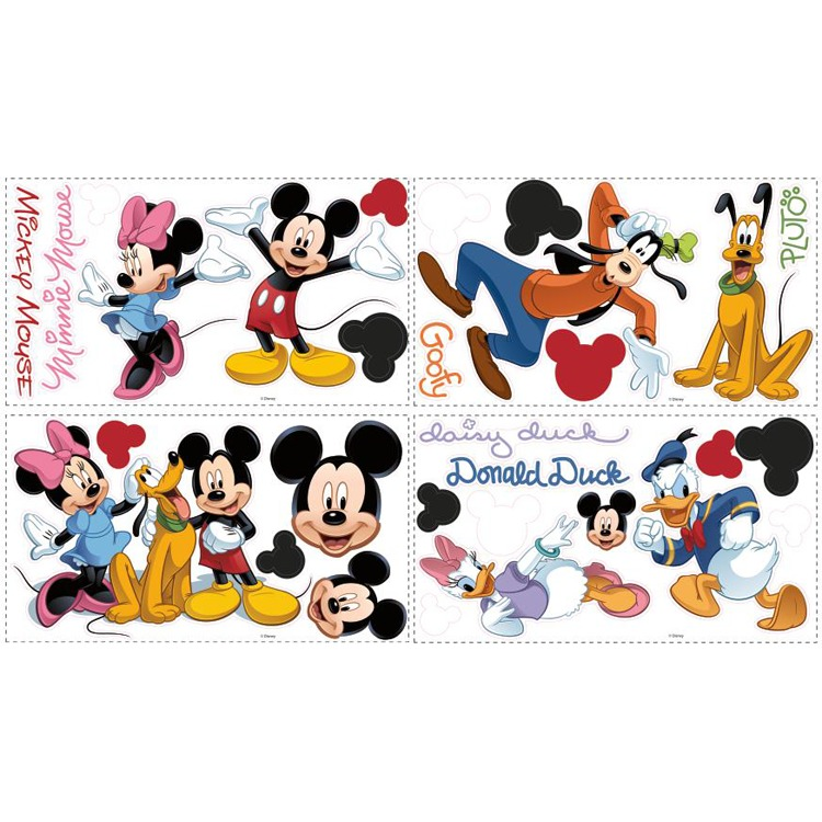 Disney RoomMates Muursticker Mickey&Friends - Multi