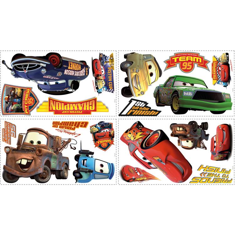 Disney RoomMates Muursticker Cars Piston Cup Champs - Multi
