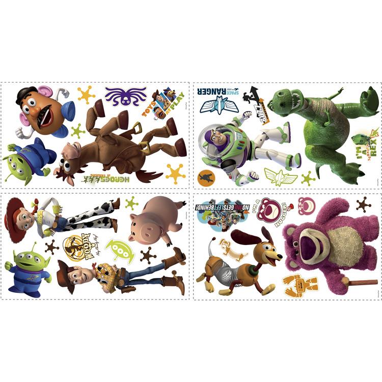 Disney RoomMates Muursticker Toy Story 3 - Multi