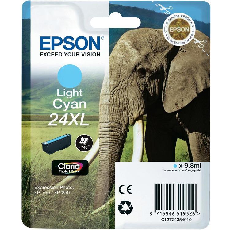 Epson 24 XL Inktcartridge Licht Cyaan