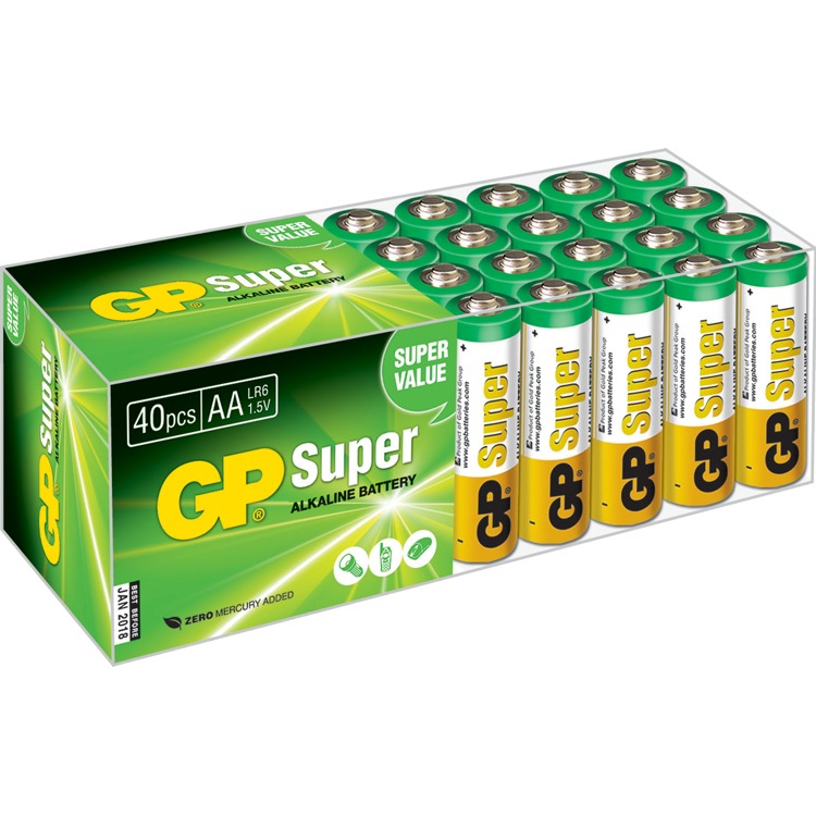 Superalkaline-AA-batterijen