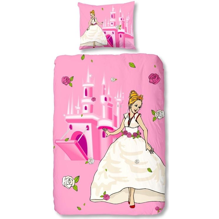 Dekbedovertrek Princess - Roze - 1-persoons (140x200/220 cm + 1 sloop)
