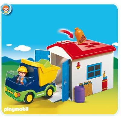 Playmobil 1.2.3. Vrachtwagen met garage 6759