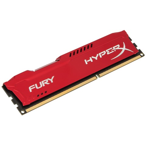 Kingston HyperX FURY 16 GB DIMM DDR3-1600 rood Kit van 2