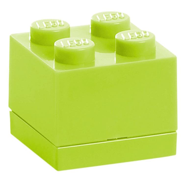 Lego Classic Lunchbox - Mini 4 - 4,6 x 4,6 x 4,3 cm - Limegroen