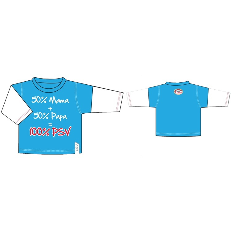 PSV Longsleeve - Baby - Maat 98-104 - Blauw