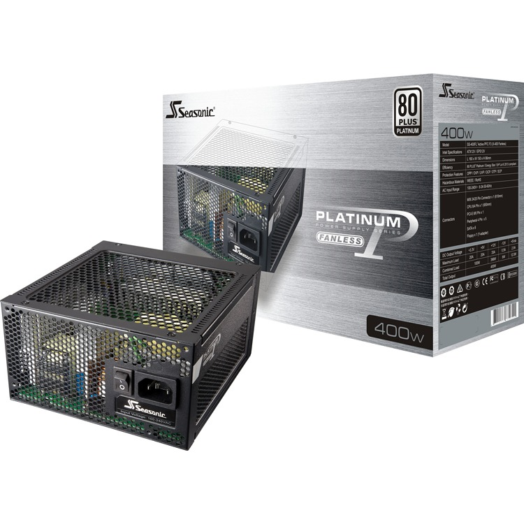 Netzteil Seasonic 400W P-400FL modulear (80+Platinum)Fanless