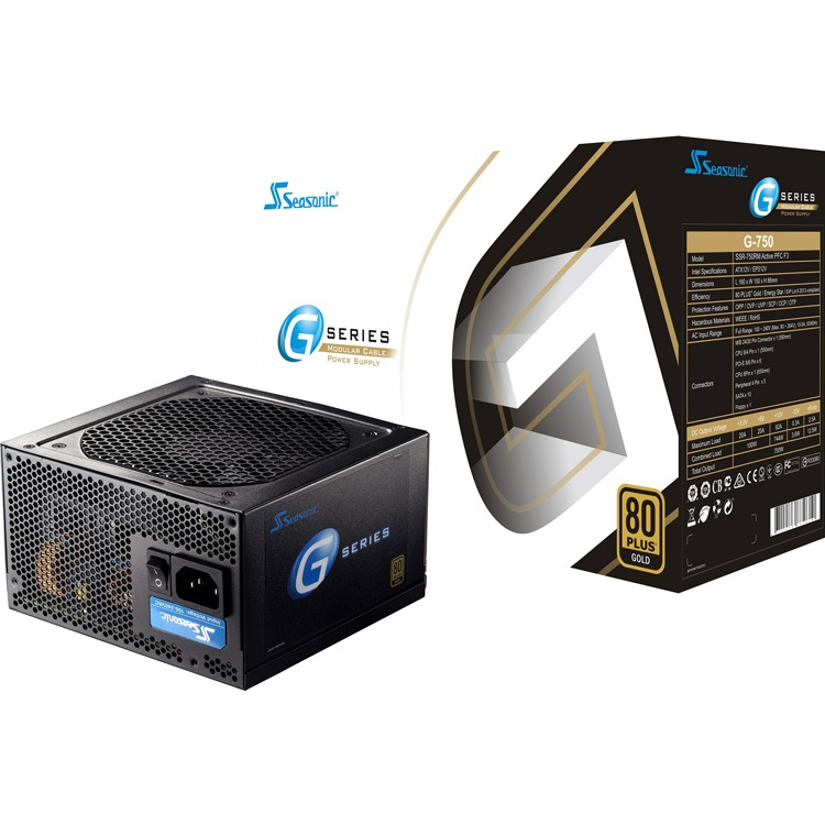 Netzteil Seasonic 750W G-750 Semi-modulear (80+Gold)