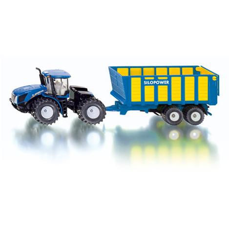 Siku Tractor met Silagewa - Blauw