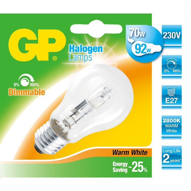 GP Batteries GP Halogen Classic 70W - E27