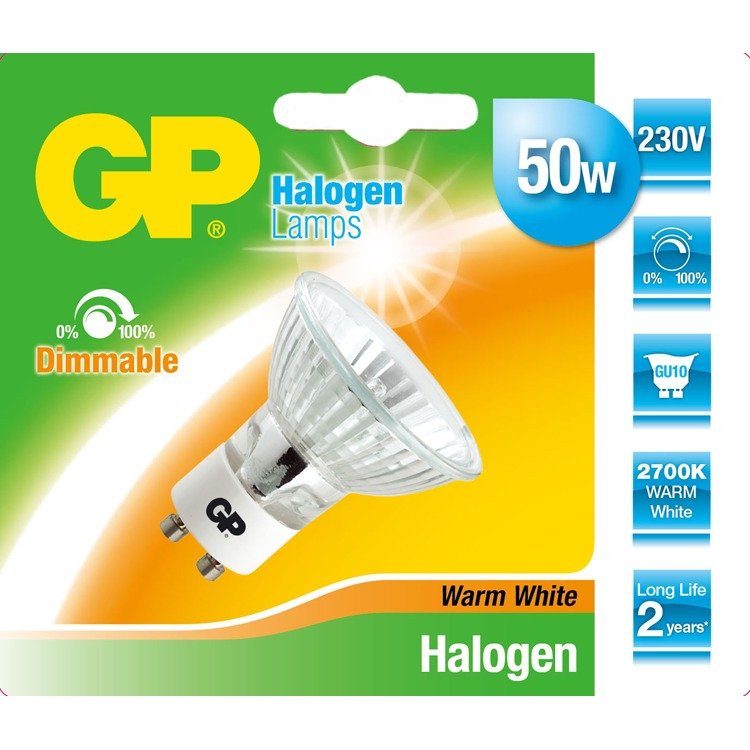 GP Batteries GP Halogen Reflector Twist 50W - GU10