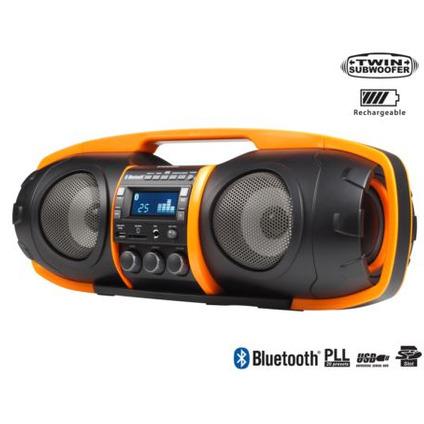 Image of Audiosonic Radio Beatblaster 50W, Bluetooth (zwart-oranje)