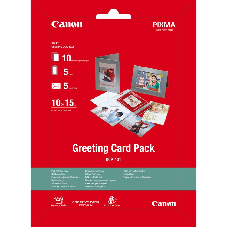 GREETING CARD PACK 10X15 10 SH PHOTO PAP