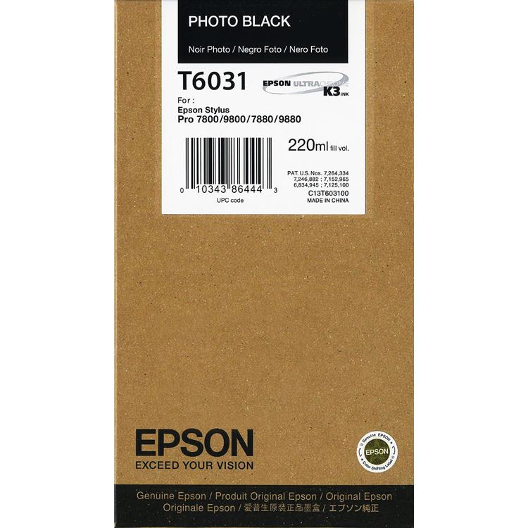Epson T6031 - Fotocartridge / Zwart