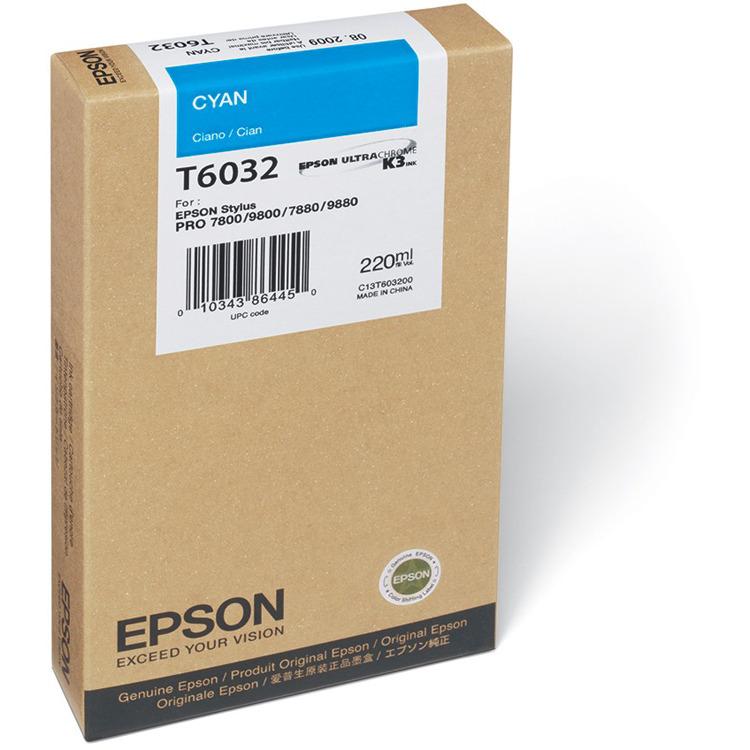 Epson T603200 - Fotocartridge / Cyaan