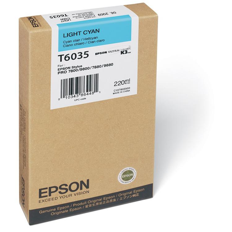 Epson T603500 - Fotocartridge / Licht Cyaan