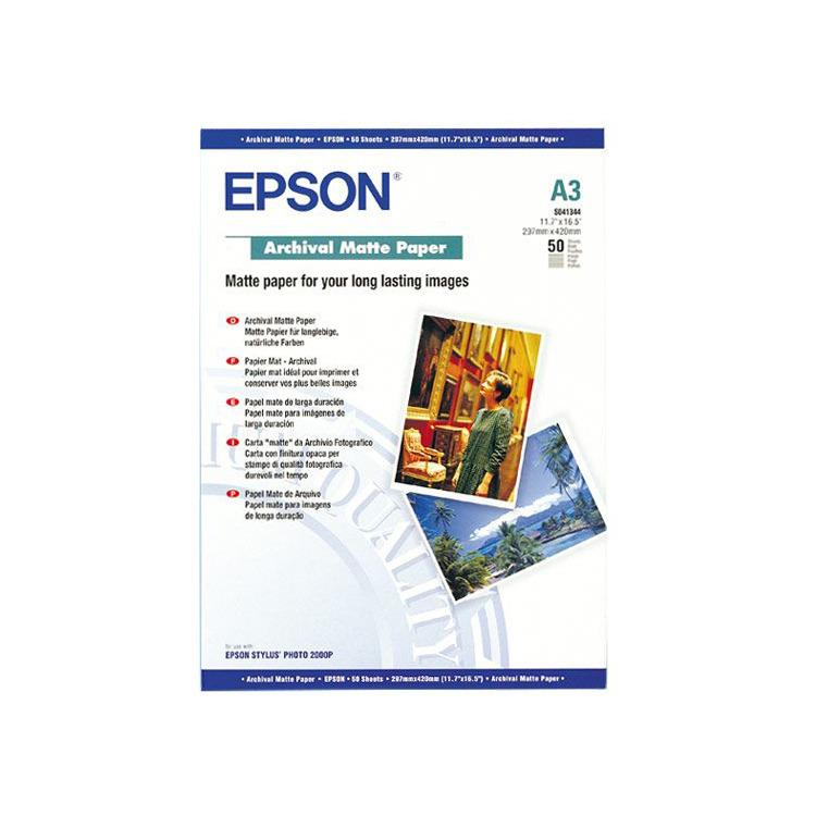 Epson C13S041344 Archiefpapier - A3 / 192g/m / Mat