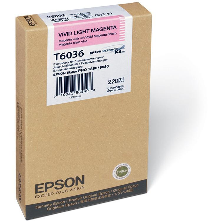 Epson T6036 Inktcartridge - Licht Magenta