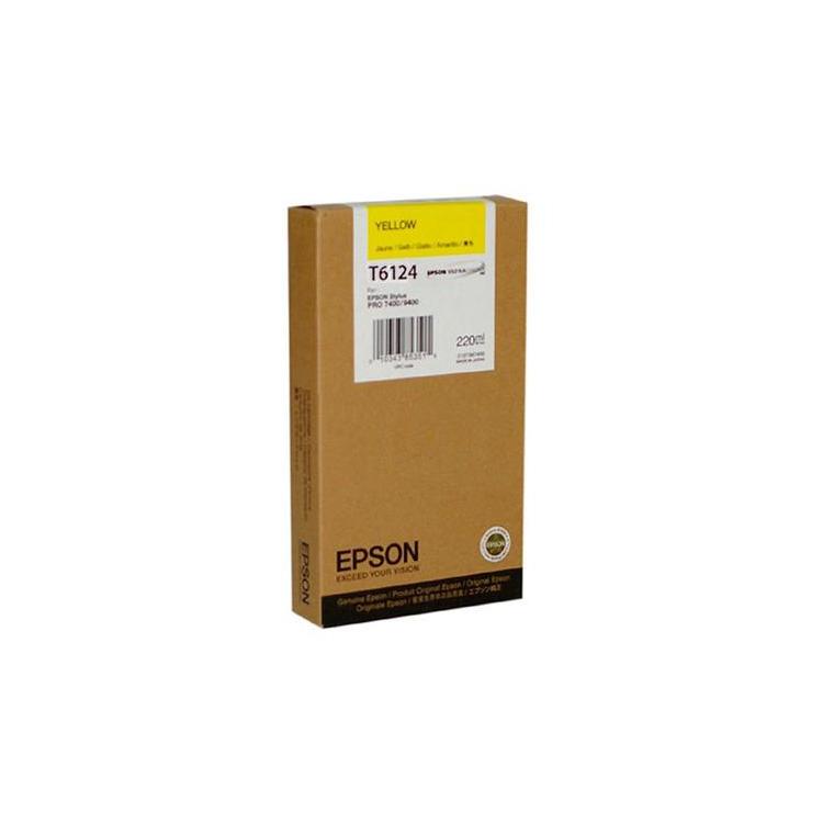 Epson T6124 - Inktcartridge / Geel